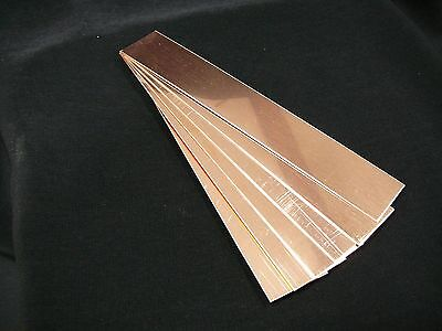 "Raw Copper Bracelet Cuff Blanks 6"" x 1"" 24ga Package Of 6 pieces *Free Shipping*"