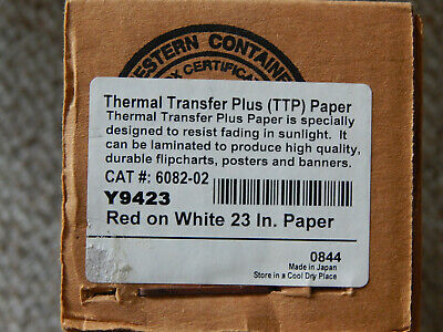 Thermal Transfer Plus Ttp 23 - Red On White - Y9423 Poster Printer Paper