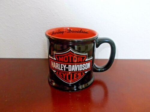 Harley-Davidson Ceramic Black & Orange Cup/Mug