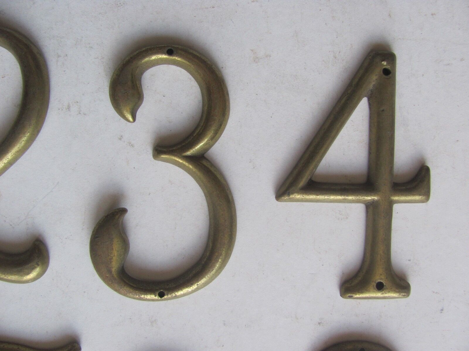 One Antique Vintage Solid Brass House Number Make Your Own