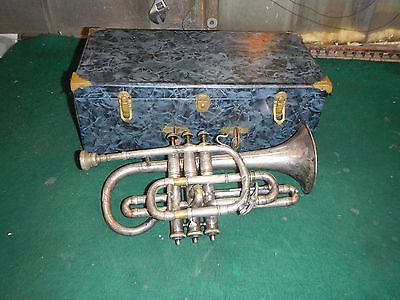 Vintage Cornet Trumpet Henri Lemone Need work/ Repair Paris