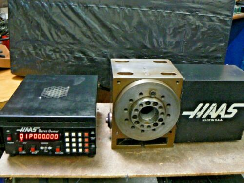 Haas HRT-A6 HRT-210 Rotary Table Indexer, 14 Pin Brush Drive Motor + Controller