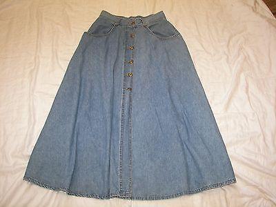 Vintage Authentic Stanley Morgan Denim Skirt   Size 10   28  Waist