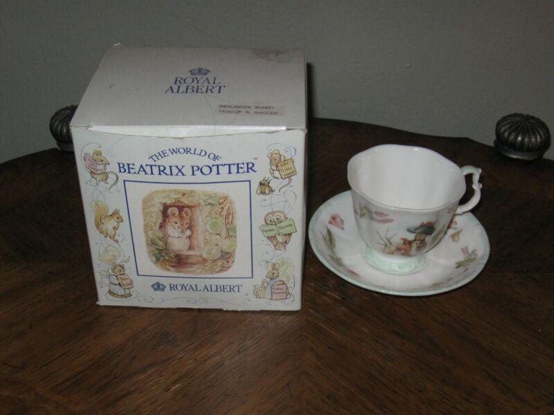 Beatrix Potter Royal Albert Teatime Collection Benjamin Bunny Footed Cup Saucer