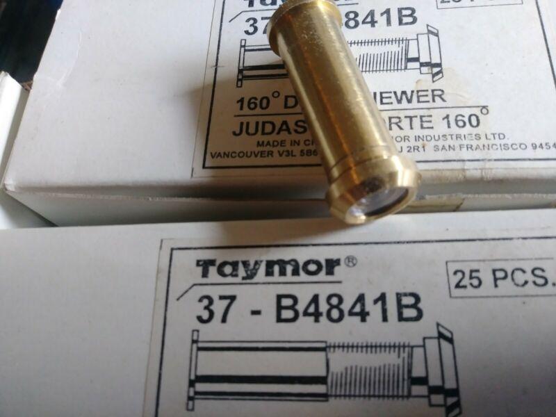 NEW Taymor 37-B4841B Solid Brass 160 Degree Peephole Door Peep Viewer Sight