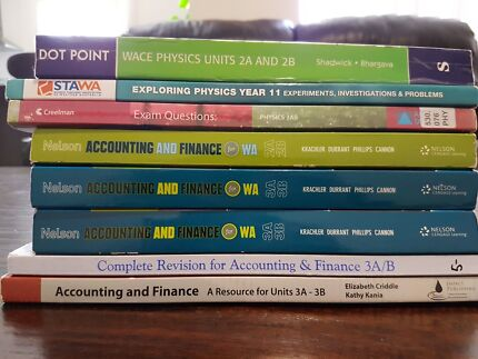Various Year 11 and 12 textbooks