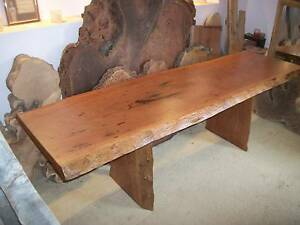 MAHOGANY Hardwood timber slab dining / outdoor table / desk -NEW Panania Bankstown Area Preview