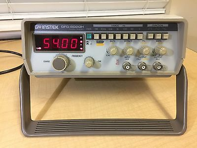 Gw Instek Gfg-8020h Function Generator With 4 Digits Led Display 0.2hz To 2mhz