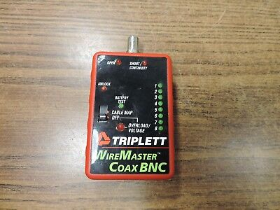 Triplett Wiremaster Coax Bnc Cable Tester