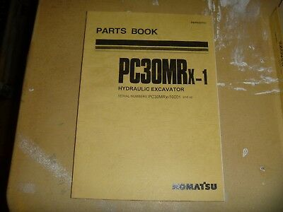 Komatsu Pc30mrx-1 Hydraulic Excavator Trackhoe Crawler Parts Catalog Manual