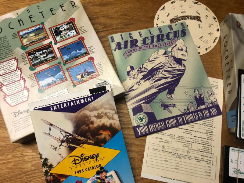 Rocketeer Dave Stevens Disney Video Game Russ Heath 1991 Vintage Rare