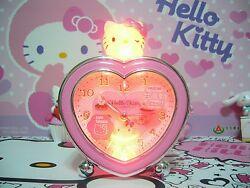 Sanrio Hello Kitty Heart Shape Alarm Clock - 6 Melody Chimes - E540KT Pink