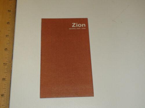 Vintage 1970 Zion National Park Utah Brochure / Pamphlet - VG