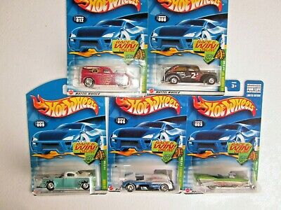 Hot Wheels 2002 Lot of 5 Treasure Hunt THUNT Vehicles 1:64 NIP