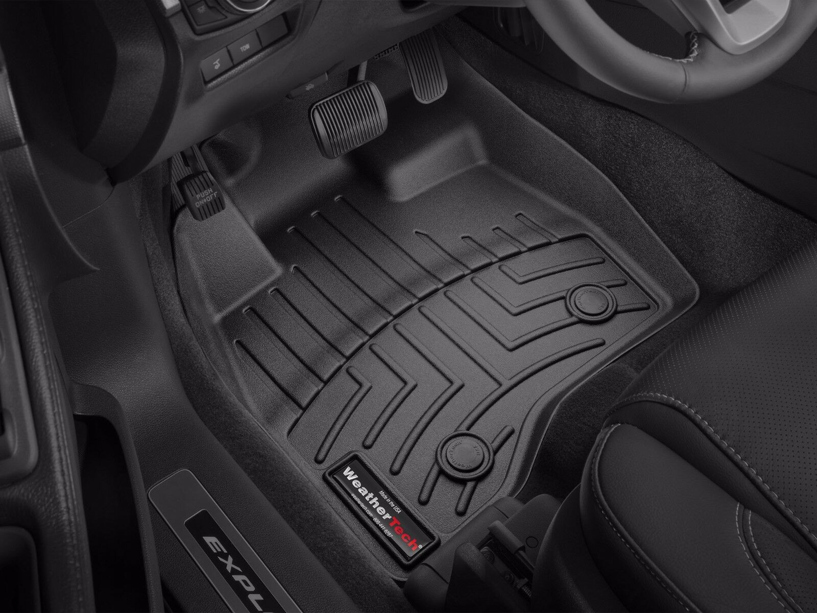 mats weathertech mustang weather floorliners black liners floor all front mat