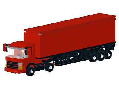 Bauanleitung instruction Truck Scania DH  Eigenbau Unikat Moc Lego Basic Creator