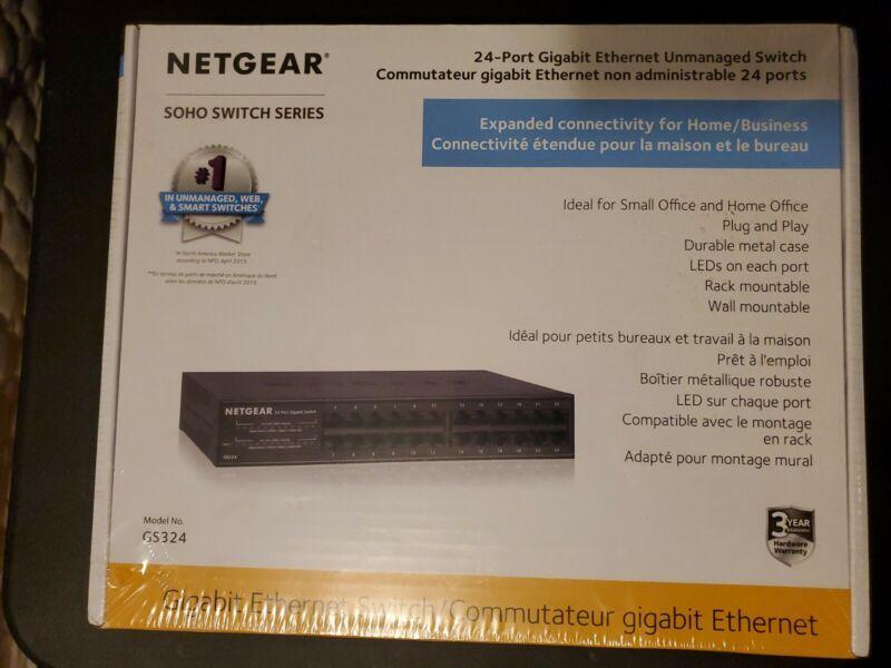 Netgear GS324-100NAS Ethernet Unmanaged Switch 24 Ports