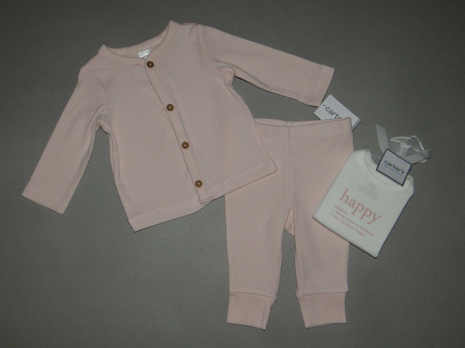 Baby girl clothes, 3 months, Carter's Cardigan 3 piece set