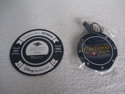 Lot of NEW 2018 Disney Cruise Line DCL Castaway Club Luggage Tag & DVC Magnet