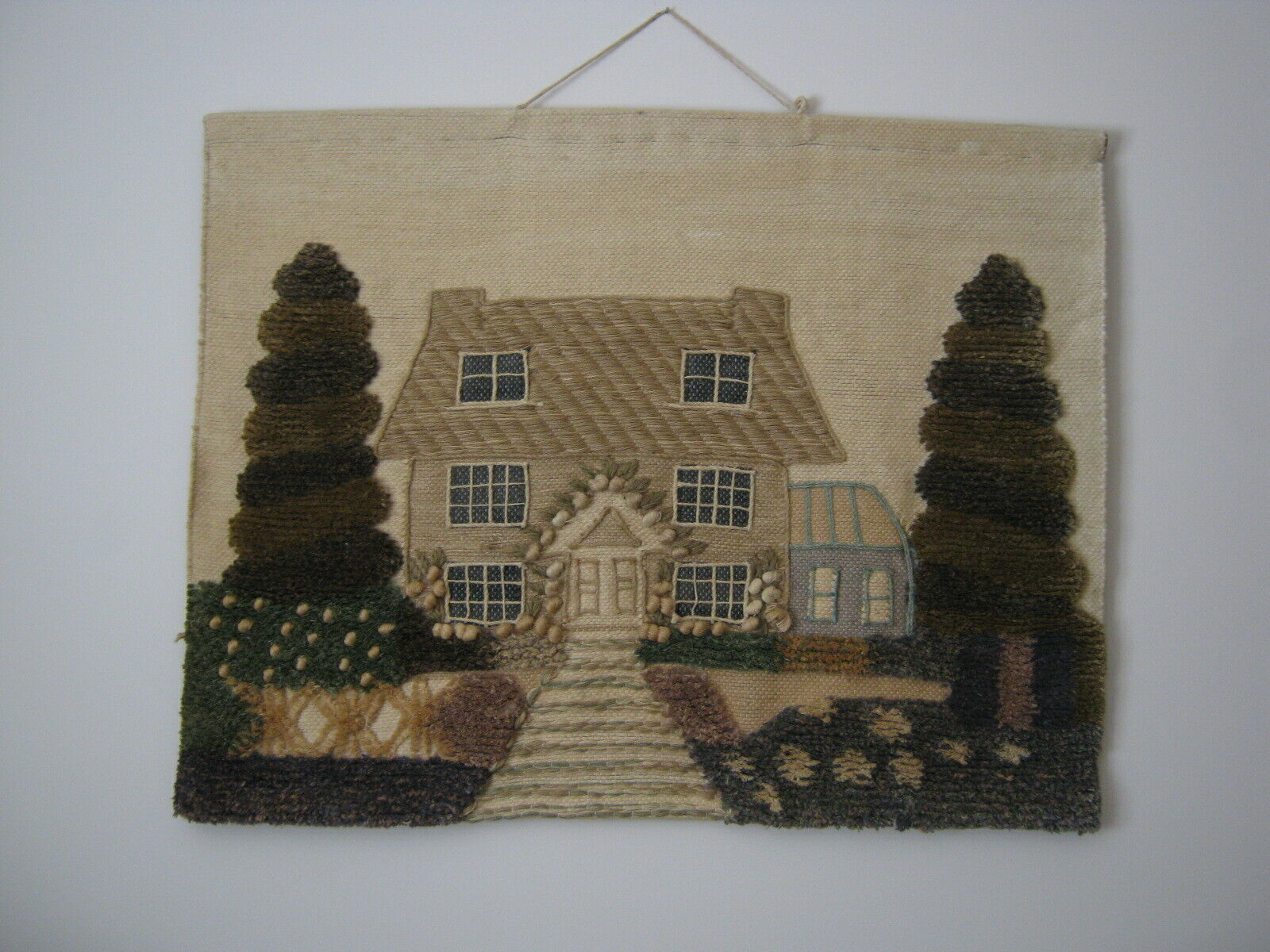 Needlework Rustic Country House 3D Wall Art Hanging