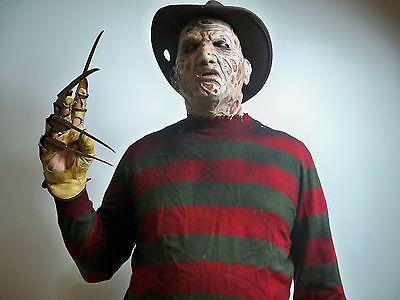 305901 FREDDY KRUEGER HALLOWEEN COSTUME OUTFIT MASK COMPLETE SILICONE CLAW - Freddy Krueger Hand Kostüm