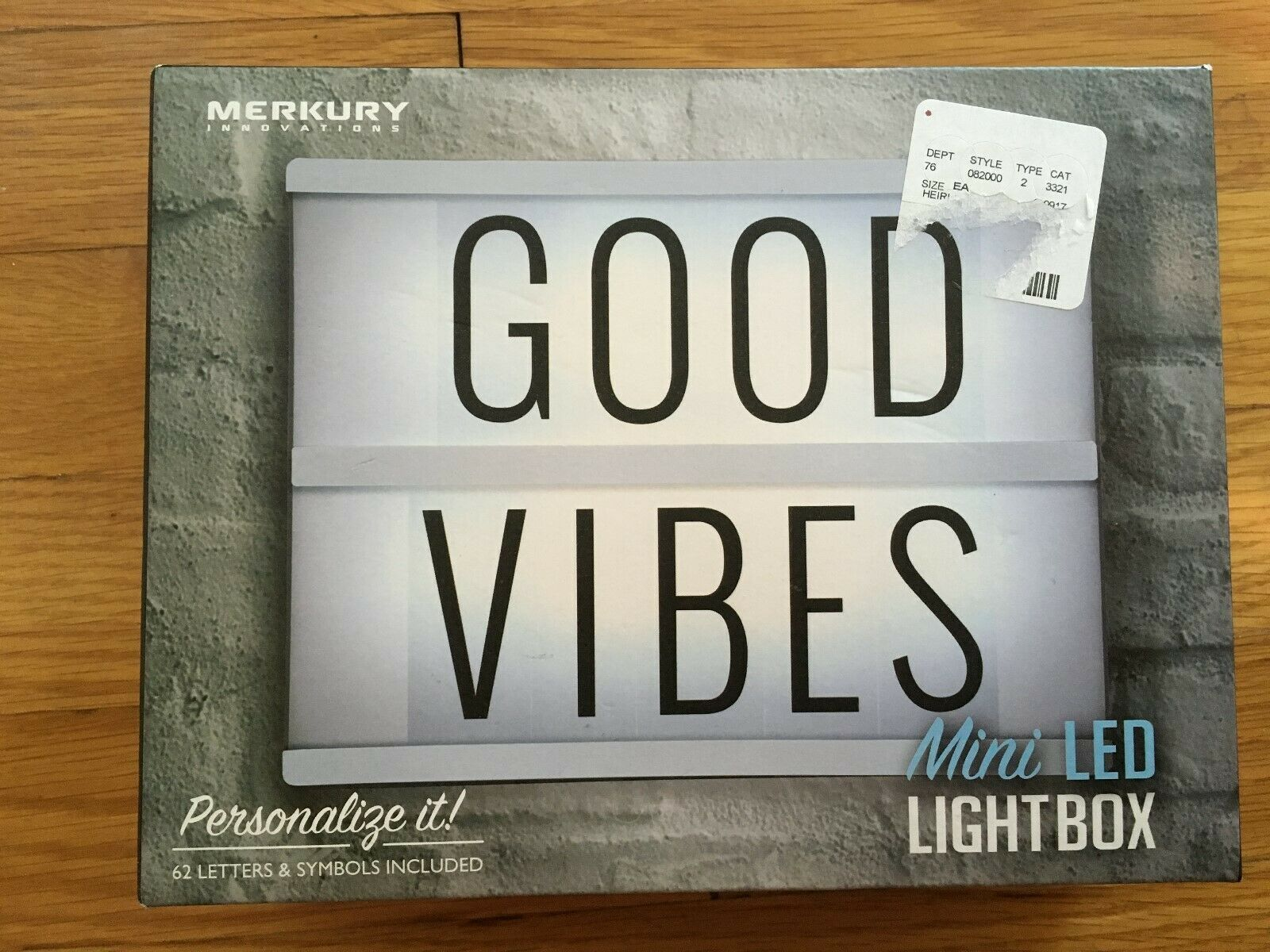 Mini LED Message Board Battery Operated Lightbox with 62 Let