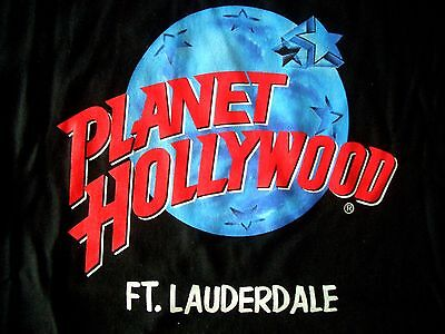 Planet Hollywood Ft Lauderdale Black Tee Size L New Neu