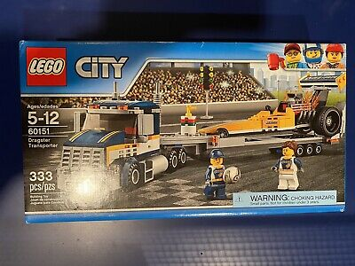 NEW LEGO City Dragster Transporter 60151 Unopened
