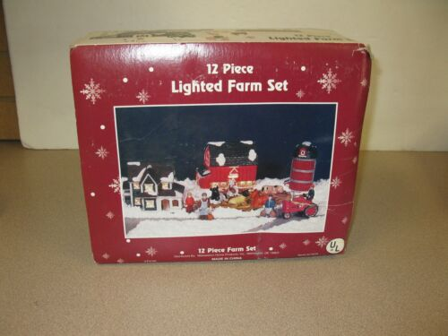 MIDWESTERN HOME PRODUCTS 12 PIECE LIGHTED FARM SET