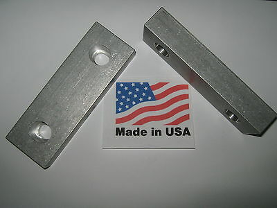 Vise Jaws 6 X 2 X 1 Reversable Machinable Steel Jaws For Kurt And Others Usa