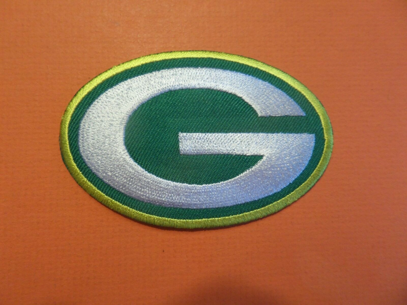 GREEN BAY PACKERS YELLOW & GREEN EMBROIDERED IRON ON PATCHES