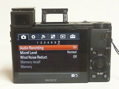Sony Cybershot DSC-RX100 III 20.1MP f1.8-2.8 RX100M3 - WORKS CORRECTLY