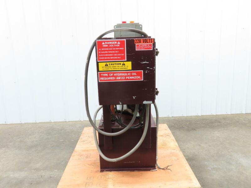 15 Hp 30 Gallon Trash Compactor Hydraulic Power Unit 230v 3ph