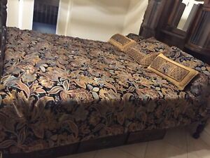 King size comforter with 2 pillow shams 3 decorative cushions