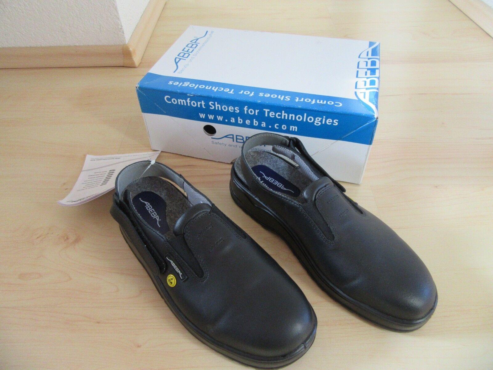 Arbeitsschuhe, Sicherheitsschuhe Clog, Sandale von Abeba, Gr. 40, schwarz