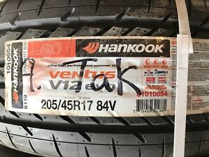 2 new tires - 205/45R17 Hankook Ventus V12