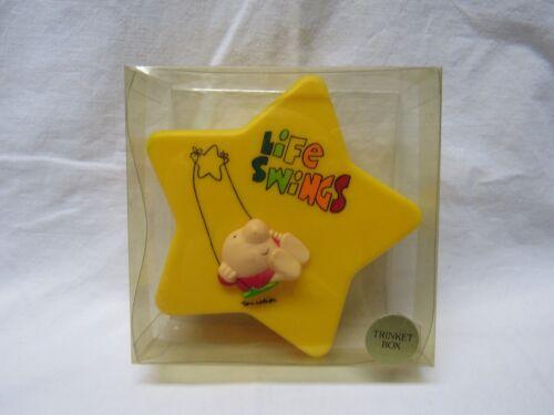 "ZIGGY TRINKET BOX  ""LIFE SWINGS"" NEW IN CASE 1982 RARE 4""X4"""