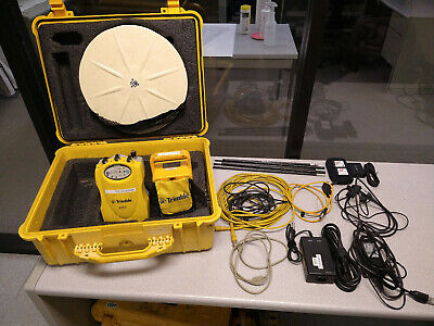 Used Trimble 5700 Gps Receiver With External Battery Cables And Accessories