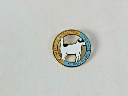 The 1991 I.R.T.C.A. National Trials - Terrier Competition Enameled Brass Pin A1
