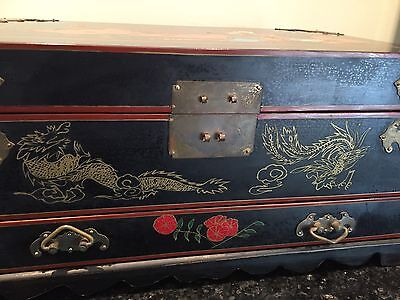Antique Asian Lacquer Jewellery Box-large.