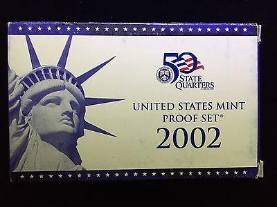 - 2002 US Mint Proof Set 10 Piece Clad SetCOA OGP