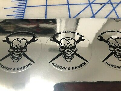 4 Funny Union Ironworkers Hard Hat Welding Helmet Stickers Decal