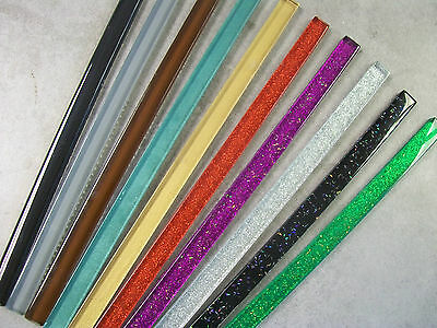 Glass Border Tile Strips - Various Colours & Pack Sizes, Plain + Glitter Finish