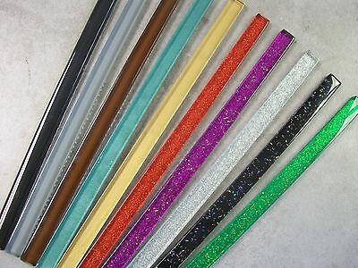 Glass Border Tile Strips - Various Colours & Pack Sizes, Plain + Glitter Finish