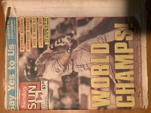 Jays World Series newspapers