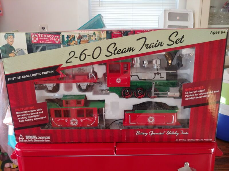NIB 2-6-0 Steam Train Set 260 First Release Limited Edition Texaco Holiday