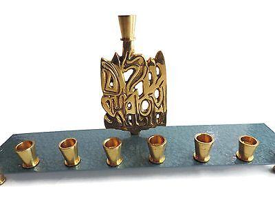 Hanukkah Menorah Shalom Brass Jewish Holiday Rite Lite Judaica Chanukah