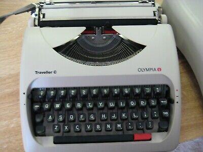 *Refurbished* Olympia Traveller C Manual Typewriter White with Hard Plastic Case