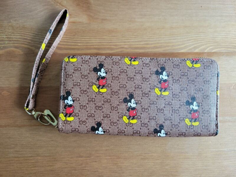 Mickey Mouse Womens Zip Around Wallet