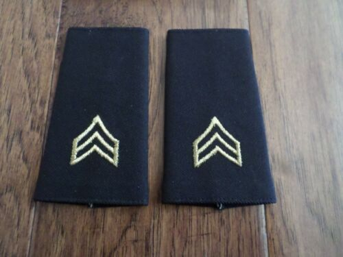 U.S MILITARY ARMY EPAULETS SERGEANT SHOULDER RANK POLICE SECURITY EPAULETS